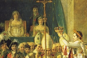 Napoleon's Mother in David's Coronation of Napoleon painting