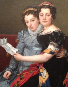 Joseph Bonaparte's daughters (Napoleon's nieces), painted by Jacques Louis David