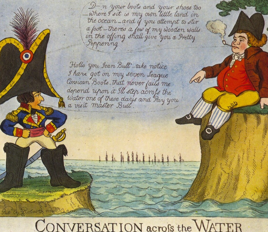 British cartoon from Napoleon's era