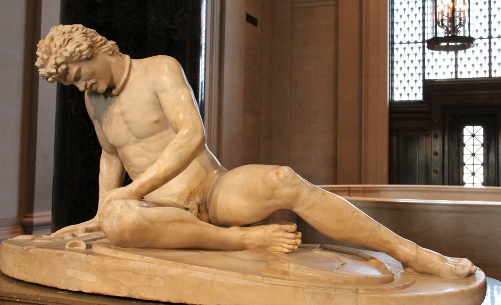 Dying Gaul, from 100 AD, seen at the National Gallery of Art, Washington, DC
