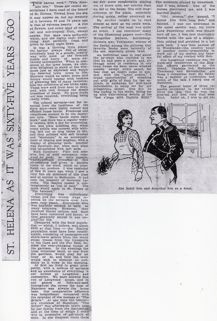 Article in Melbourne journal circa 1940