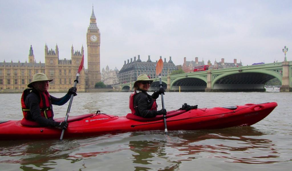 Bert & Margaret kayaking on the Thames Sept 2014
