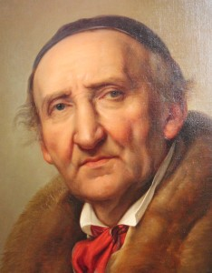 Johann Gottfried Schadow, sculpter, portrait by Julius Hubner, in the Alte NationalGalerie, Berlin