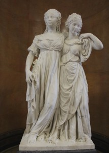 Princesses Louise and Fredricka statue by Johanne Gottfried Schadow in the Alte Museum, Berlin. Photo by Margaret Rodenberg