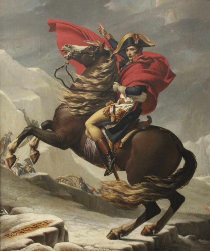 Napoleon Crossing the Alps by Jacques Louis David, Charlottenburg Palace, Berlin, Photo by Margaret Rodenberg