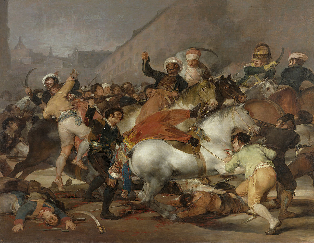 Goya's El dos de mayo de 1808 in the Prado Museum, Madrid