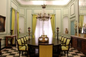 Empire Dining Room in the Museo Napoleónico, Havana, Cuba, photo by Margaret Rodenberg 10-2017 Finding Napoleon in Cuba