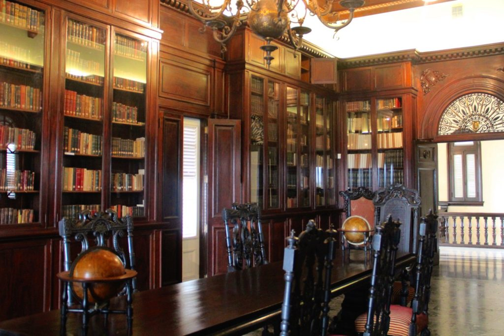 Library at the Museo Napoleónico in Havana, Cuba, photo by Margaret Rodenberg, 10-2017 Finding Napoleon in Cuba